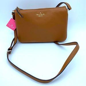 Kate Spade NWT tan leather small crossbody bag